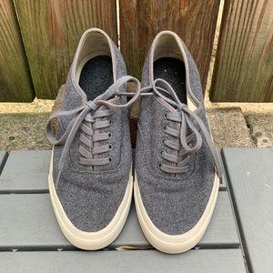 Seavees J. Crew Legend Sneakers Grey Wool 8